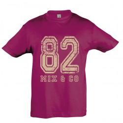 T-shirt enfant 82 fuschia