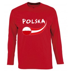 T-shirt rouge manches...
