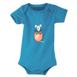 Body bébé petit oeuf bleu