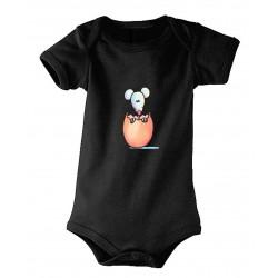 Body bébé petit oeuf noir