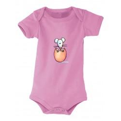 Body bébé petit oeuf rose