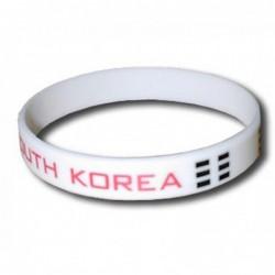 Bracelet silicone Corée du Sud
