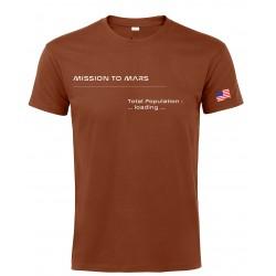 T-shirt Mars Homme Terracotta