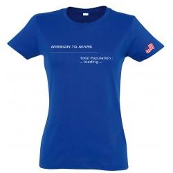 T-shirt Mars femme bleu royal