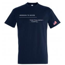 T-shirt Mars enfant marine