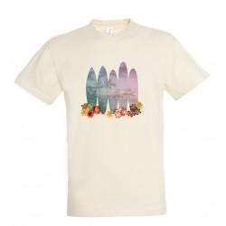 T-shirt enfant surf blanc