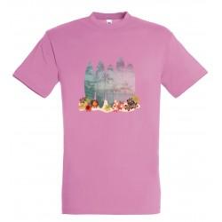 T-shirt enfant surf rose