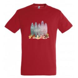 T-shirt enfant surf rouge
