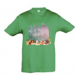 T-shirt enfant surf vert