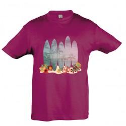 T-shirt enfant surf fuschia