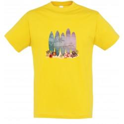 T-shirt enfant surf jaune