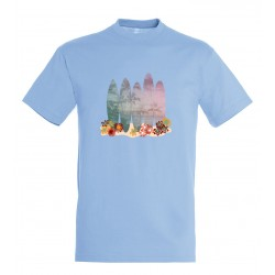 T-shirt enfant surf bleu ciel