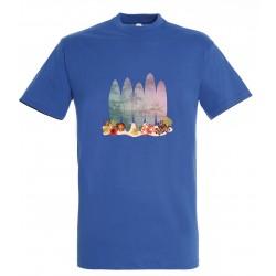 T-shirt enfant surf bleu royal